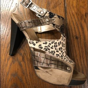 Animal Print Strappy Heel
